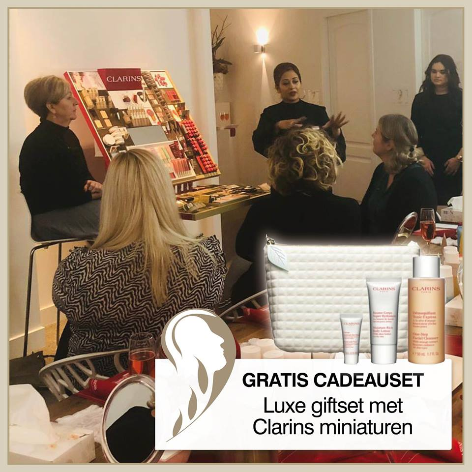 Luxe Clarins giftset cadeau!